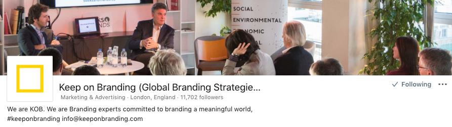 KOB - Keep on Branding Linkedin Page